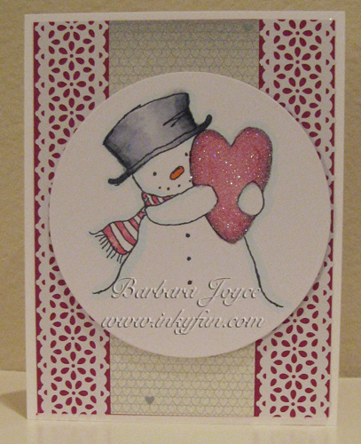 Happy Heart Snowman